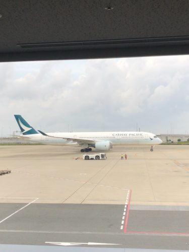タイ出張#1キャセイパシフィック航空