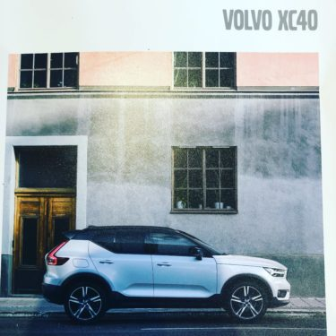 VOLVO XC40納車当日。